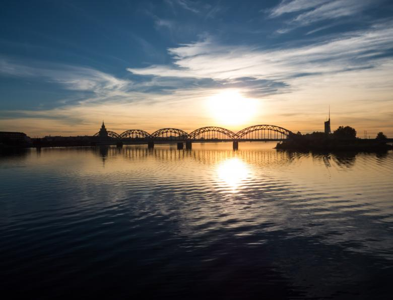 Free Stock Photo of Rail way bridge over the river Created by Janis Urtans