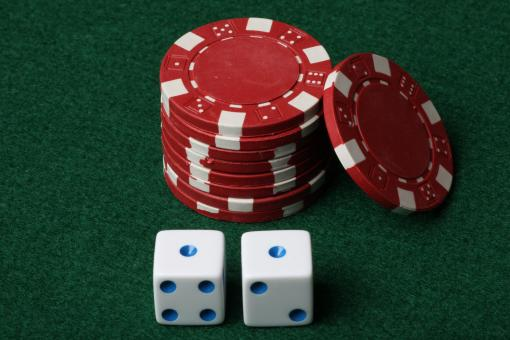 Poker chips and Dice - Free Stock Photo