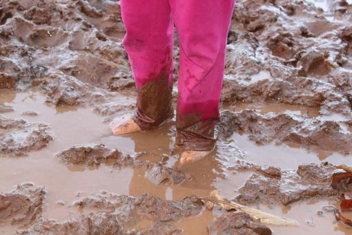 Muddy feet - Free Stock Photo