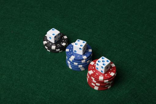 Poker chips and dice. - Free Stock Photo