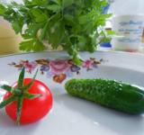 Free Photo - Cucumber and tomato