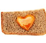 Free Photo - Bread with heart shaped honey