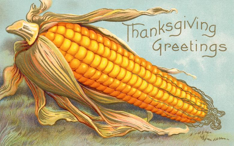Free Stock Photo of Antique Thanksgiving Greeting Card Created by Nicolas Raymond