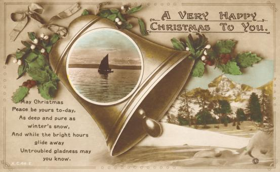 Vintage Christmas Card - Free Stock Photo