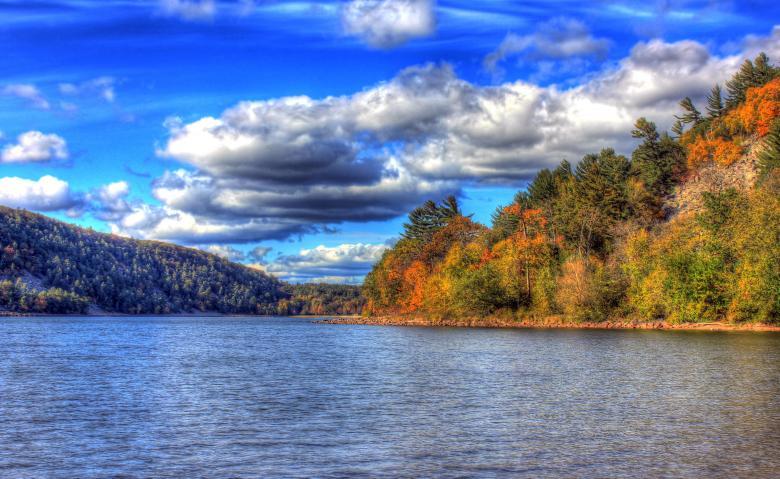 Clouds over Devils lake - Free Autumn Stock Photos