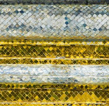 Silver and Gold Diamond Pattern - Free Stock Photo