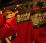 Free Photo - Red Christmas stockings hanging