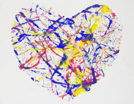 Heart Paint Splatter - Free Stock Photo