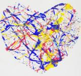 Free Photo - Heart Paint Splatter