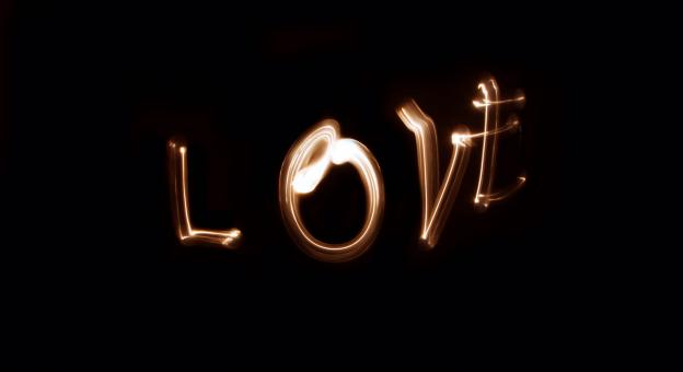 Love Light Painting - Free Stock Photo