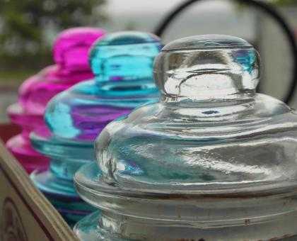 Colored Set of Glass Jars - Free Stock Photo