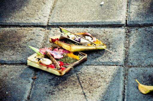 Traditional balinese offerings to gods - Free Stock Photo