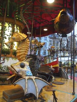 Retro Artistic Merry go round in Brussel - Free Stock Photo