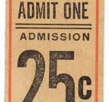 Free Photo - Vintage Admission Ticket - Front Side