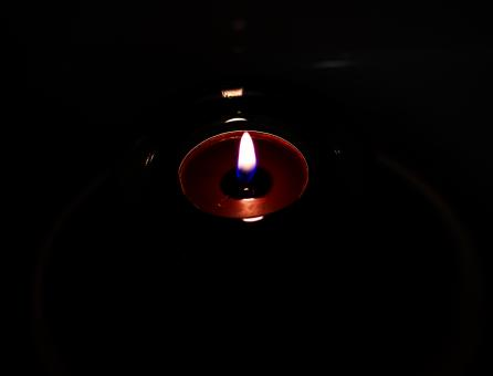 Candle with black background - Free Stock Photo