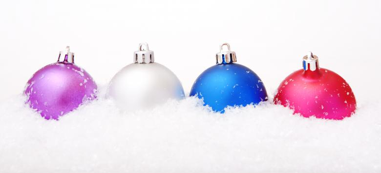 Free Stock Photo of Colored Christmas Balls Created by 2happy