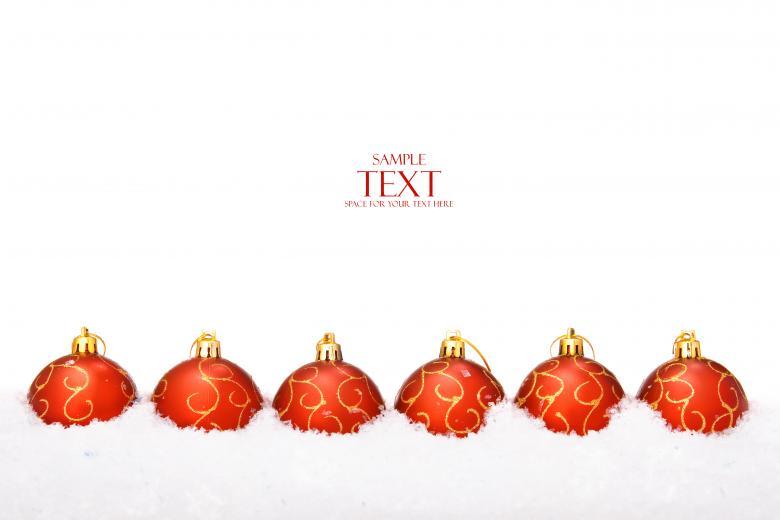 Row of Christmas Balls - Free Christmas Stock Photos