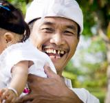 Free Photo - Asian child with father