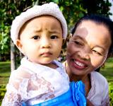 Free Photo - Little baby with grandmother