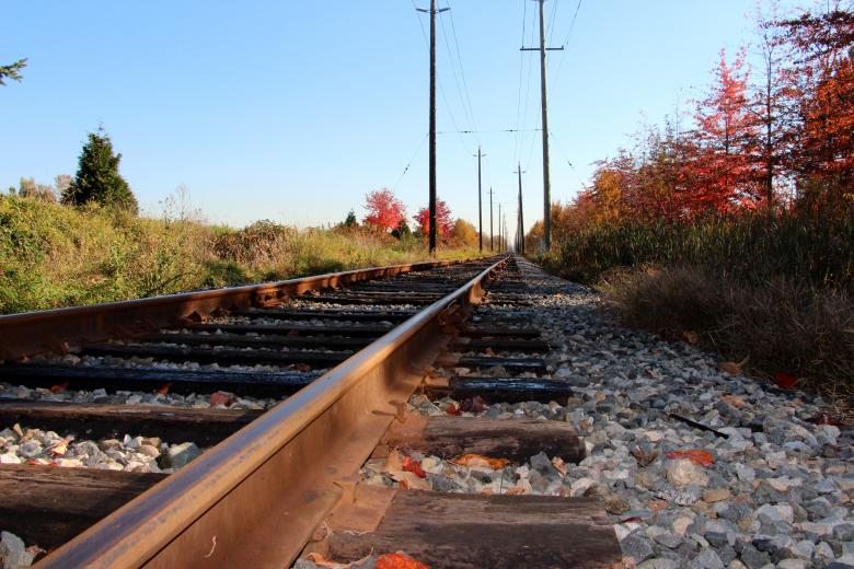 Free Stock Photo of BC Railway Tracks Created by Dee Dahl