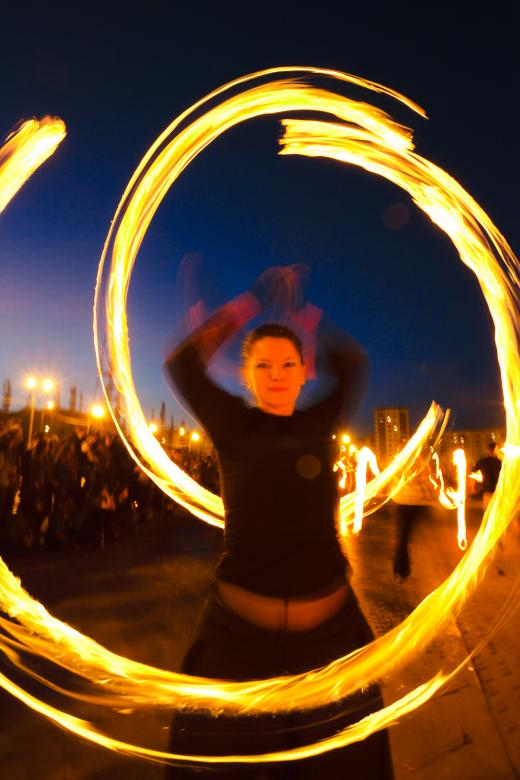 Free Stock Photo of Fire show Created by skydie