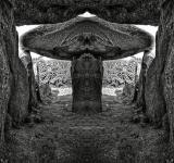 Free Photo - Le Trepied Dolmen - BW HDR