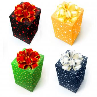 gift boxes with bows - Free Stock Photo
