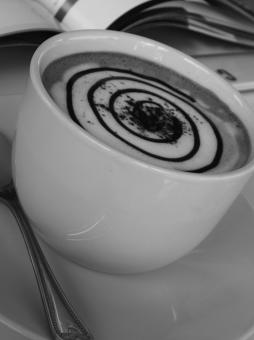 Coffee Spiral Art Black and White - Free Stock Photo
