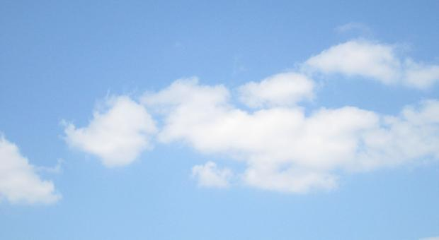 Blue sky with cloud - Free Stock Photo