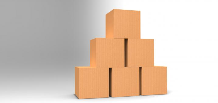 3D Boxes - Free Stock Photo