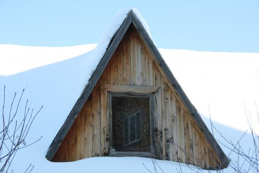 through a wooden cabin window - Free Stock Photo