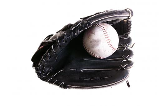 Softball and glove - Free Stock Photo