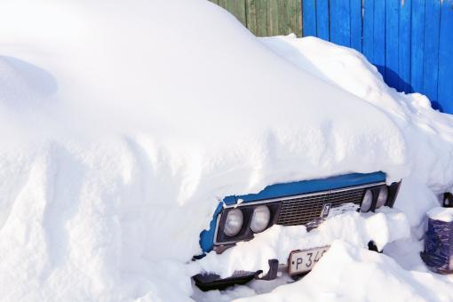Snow-Covered Car - Free Stock Photo