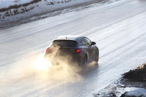 Car on icy road - Free Stock Photo
