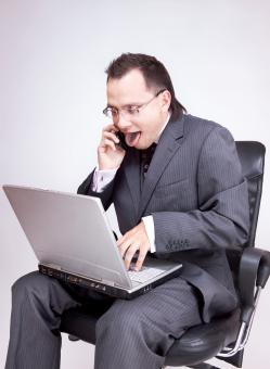 man with laptop - Free Stock Photo