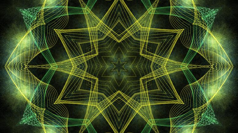 Free Stock Photo of Abstract Fractal Art Wallpaper Created by George Cuda
