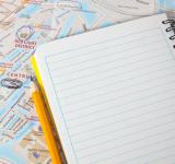 Free Photo - Travel map with book