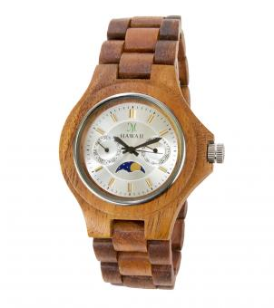Moon Phase Face Koa Watch - Free Stock Photo