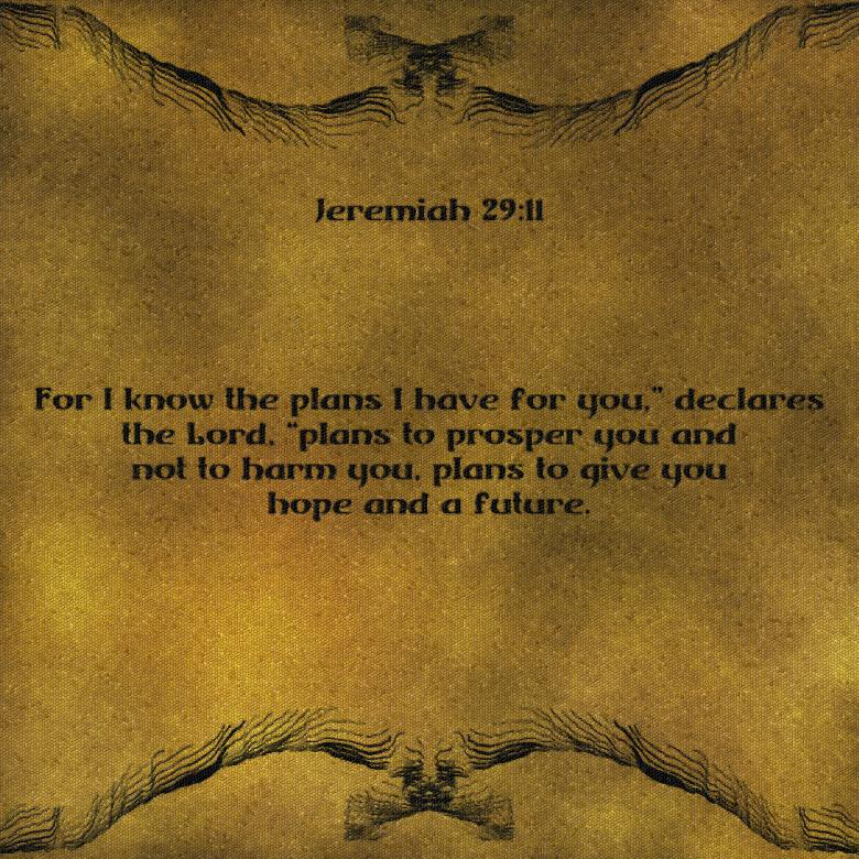 Free Stock Photo of Mosaic Digital Art Jeremiah 29:11 Created by George Cuda