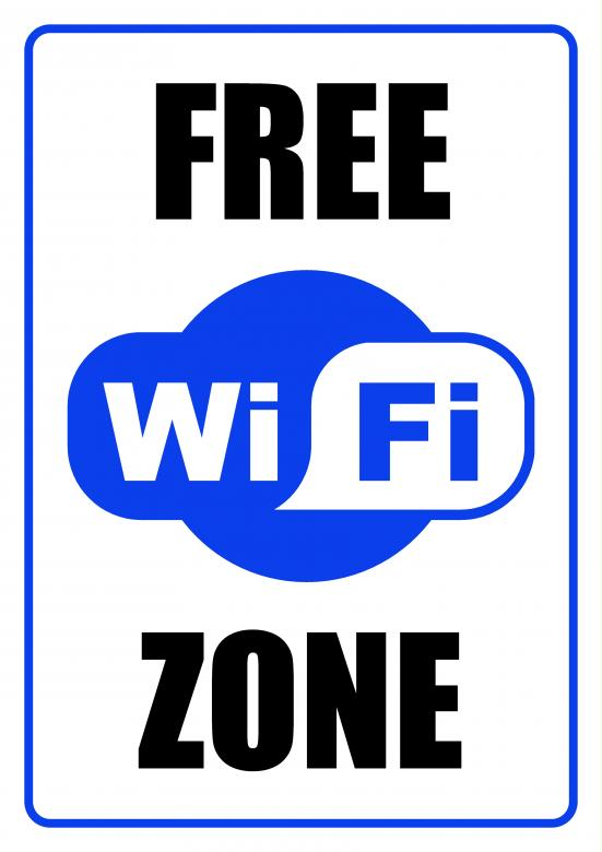 Free Stock Photo of FREE WiFi Zone - Sign Created by Darren Lewis