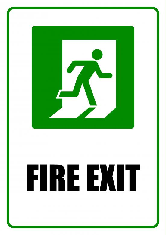 Free Stock Photo of Fire Exit - Sign Created by Darren Lewis