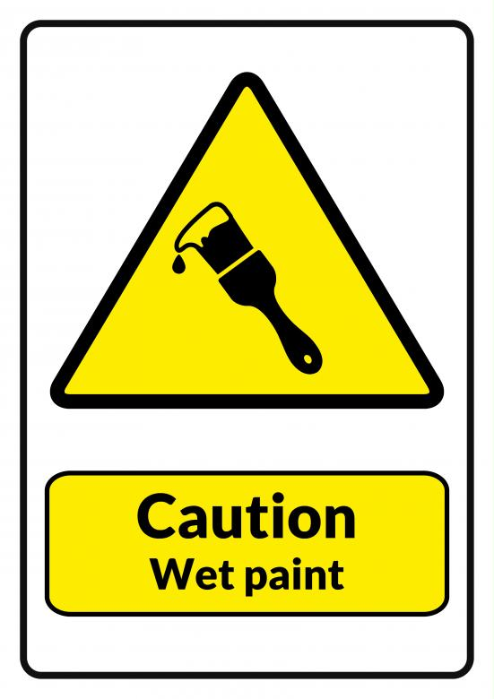 Caution Wet Paint Printable - Free Stock Photo by Darren Lewis on ...