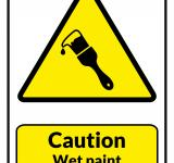 Free Photo - Caution Wet Paint Printable