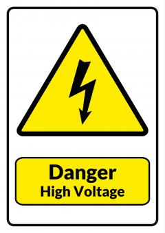 Danger High Voltage - Free Stock Photo