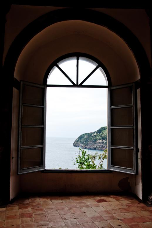Free Stock Photo of Window view in Aragonese castle, Ischia Created by Merelize