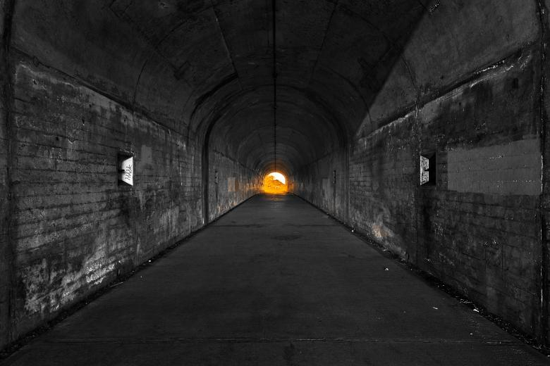Free Stock Photo of California War Tunnel - Glimmer of Hope Created by Nicolas Raymond
