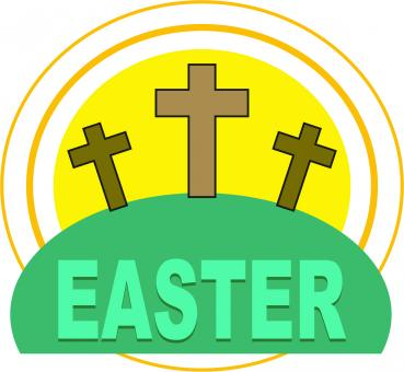 Easter Cross Clipart - Free Stock Photo