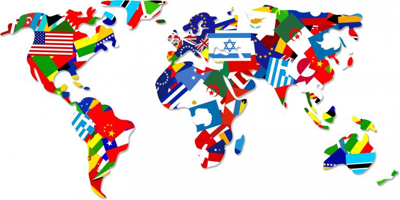 World flag map free stock photo by prawny on stockvault world map made up of flags gumiabroncs Images
