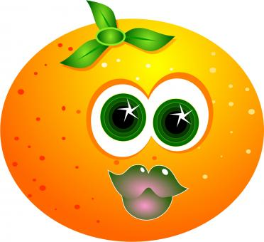Cartoon Orange Clipart - Free Stock Photo