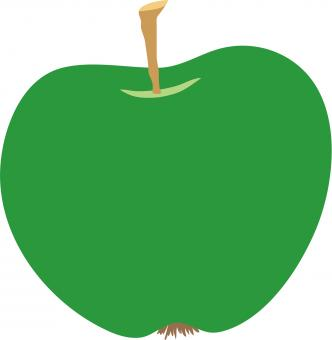 Green Apple Clipart - Free Stock Photo